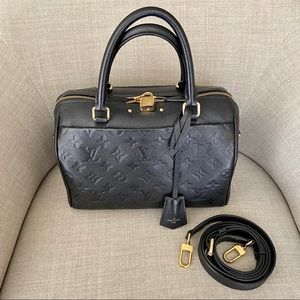 [LOUIS VUITTON] Speedy 25 Black Empriente Leather